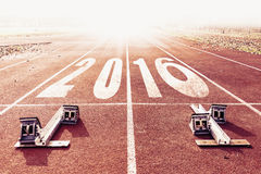 New year 2016 warm look numbers painted Royalty Free Stock Photo