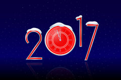 2017_new_year_watch Arkivfoton