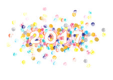 New year 2017 watercolor painting Royalty Free Stock Photos