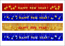New Year web banner set Stock Image