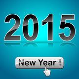 New year web button Stock Image