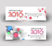 New year 2016 website banner Stock Photos