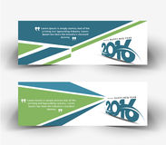 New year 2016 website banner. New year 2016 website header and banner set with presents Stock Photos