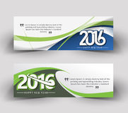 New year 2016 website banner. New year 2016 website header and banner set with presents Stock Images