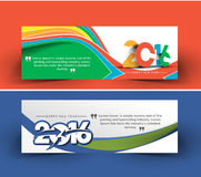 New year 2016 website banner. New year 2016 website header and banner set with presents Stock Photography