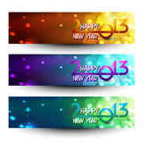 New year website header and banner set. Royalty Free Stock Photo