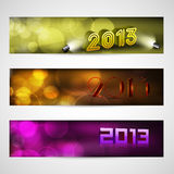 New year website header and banner set. Stock Image