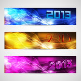 New year website header and banner set. EPS 10 Royalty Free Stock Photography