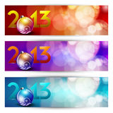 New year website header and banner set. Stock Photos