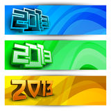 New year website header and banner set. EPS 10 Royalty Free Stock Photo