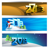 New year website header and banner set. Royalty Free Stock Photography