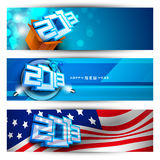 New year website header and banner set. EPS 10 Royalty Free Stock Photos