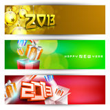 New year website header and banner set. EPS 10 Stock Image
