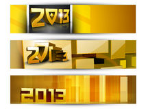 New year website header and banner set. Stock Photography