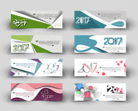 New year 2017 website header Royalty Free Stock Photos
