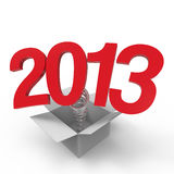 New year 2013. On white background Stock Images