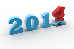 2014 New Year. In white background stock illustration