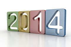 New year 2014. In white background Royalty Free Stock Photos