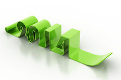 New year 2014. In white background Royalty Free Stock Images