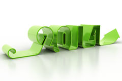New year 2014. In white background Royalty Free Stock Photography