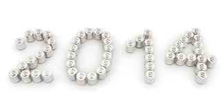 New Year 2014. On a white background Royalty Free Stock Photos