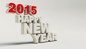 New Year 2015 on white background.  Stock Image