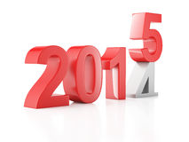 New Year 2015 on white background. Image of New Year 2015 on  white background. 3d renderer Royalty Free Stock Images