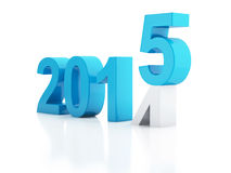 New Year 2015 on  white background. Image of New Year 2015 on  white background. 3d renderer Royalty Free Stock Photography