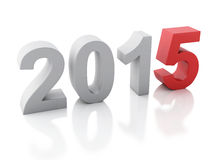 New Year 2015 on  white background. Image of New Year 2015 on  white background. 3d renderer Royalty Free Stock Photos