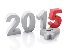 New Year 2015 on  white background. Image of New Year 2015 on  white background. 3d renderer Stock Photos