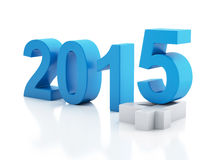 New Year 2015 on  white background. Image of New Year 2015 on  white background. 3d renderer Stock Images