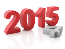 New Year 2015 on  white background. Image of New Year 2015 on  white background. 3d renderer Royalty Free Stock Photo
