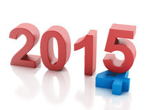 New Year 2015 on  white background. Image of New Year 2015 on  white background. 3d renderer Royalty Free Stock Image