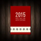 New year 2015. White numbers with Merry Christmas Royalty Free Stock Photography