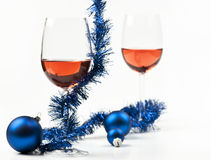 New year wine Stock Photo