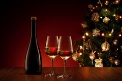 New year wine royalty free stock photos