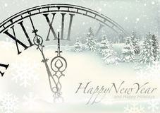 New Year Winter Background Stock Image