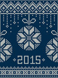 New Year 2015. Winter Holiday Seamless Knitted Pattern. Seamless pattern ornament on the wool knitted texture. EPS available Stock Images