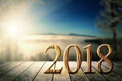 New year on the winter backgrounds. New year on the winter Stock Images