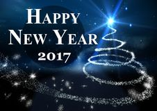 2017 new year wishes against digitally generated background. 2017 new year wishes against digitally generated blue background Royalty Free Stock Image
