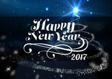 2017 new year wishes against digitally generated background Stock Photography