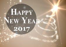 2017 new year wishes against digitally generated background. 2017 new year wishes against digitally generated illuminated background Stock Photo
