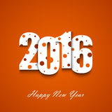 New Year wishes with circles on an orange background Royalty Free Stock Image