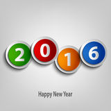 New Year wishes with colorful abstract circles template Royalty Free Stock Photography