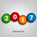 New Year wishes with colorful abstract design circles. Vector eps 10 Stock Images