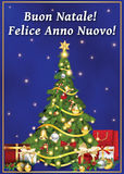 New Year wishes in Italian language Stock Photography