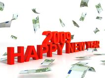 New year wishes for two thousand nine. Three dimensional view of new year wishes for two thousand nine Stock Images