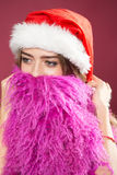 New year woman with beard Stock Images