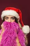 New year woman with beard Stock Photo