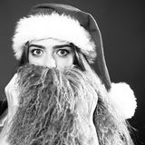 New year woman with beard Stock Photography